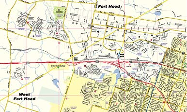 Greater Killeen / Fort Hood Area map
