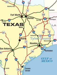 Map Of East Texas Towns
