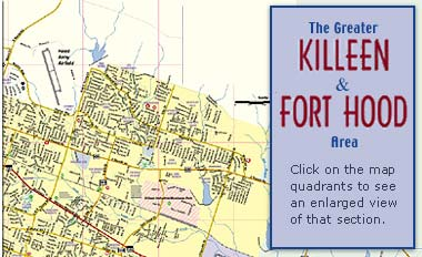 Greater Killeen / Fort Hood Area map on fort hood map, killeen police department, killeen city hall, killeen beach, killeen airport, killeen driving school, san angelo tx zip code map, killeen tx, killeen isd, killeen murder,