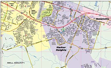 Greater Killeen Fort Hood Area Map